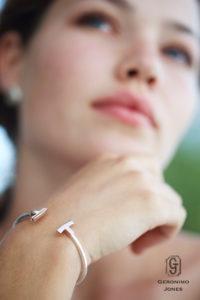 Curved T-Bangle Bracelet