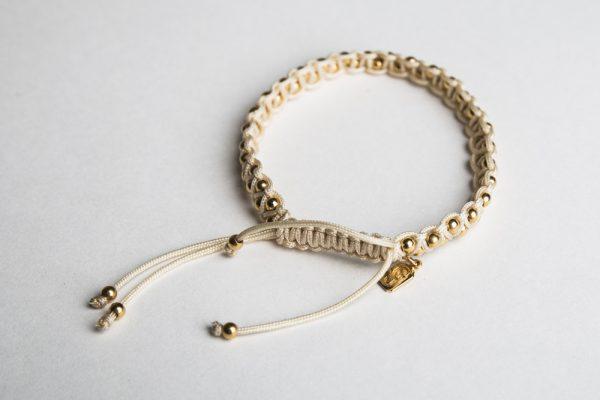 GJ Dada Sister Bracelet 18 ct Yellow Gold & Ivory