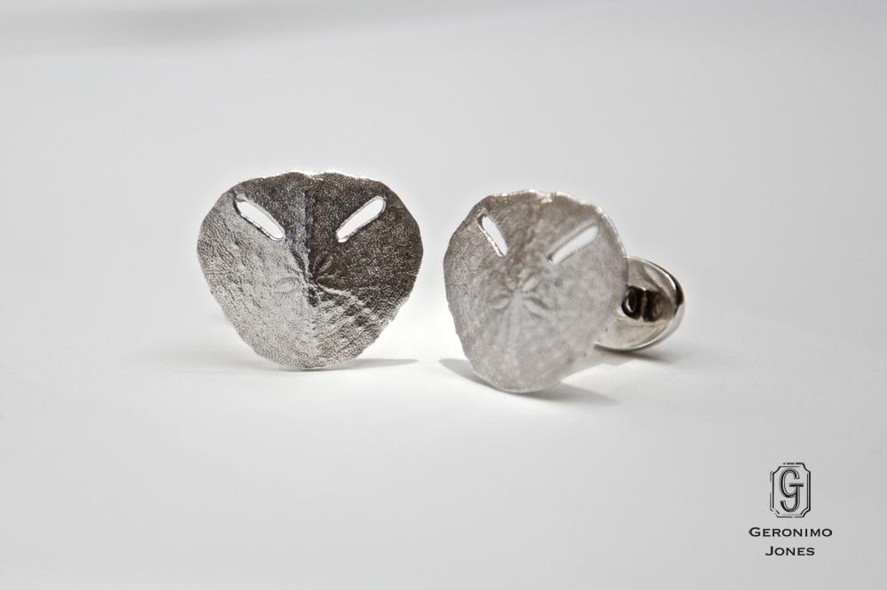 7e0f73abb Sterling Silver Sand Dollar Cufflinks - Geronimo Jones