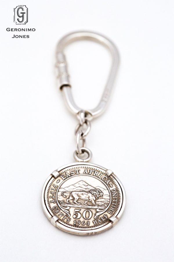 East African Kenya genuine 50 cent Half Shilling coin Keyring