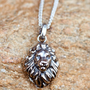 GJ Big Five Lion pendant necklace in solid Sterling silver