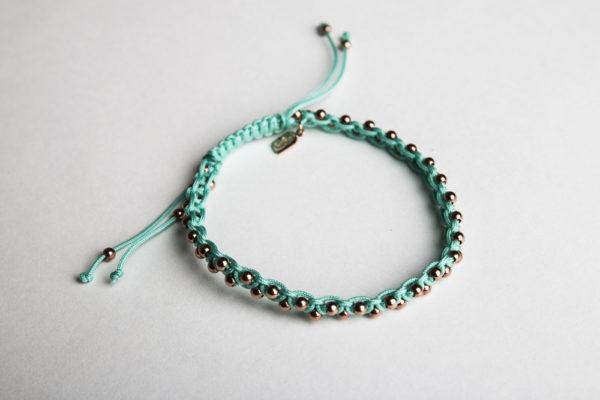 GJ Dada Rose Gold & Turquoise Beaded Sister Bracelet