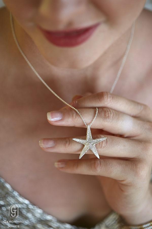 Geronimo Jones Sterling Silver Solo Starfish Pendant Necklace