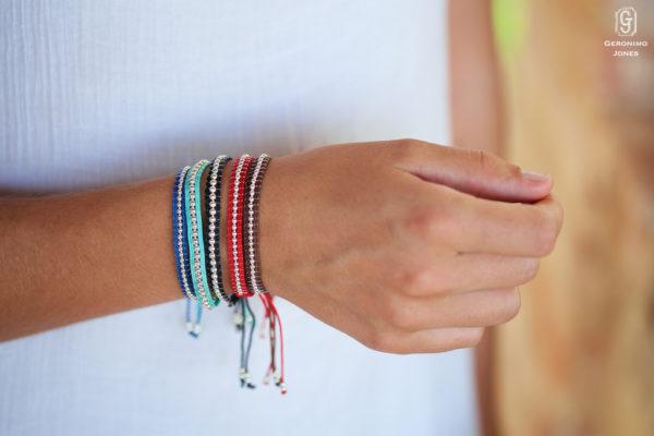 Sanata hand beaded Sterling silver beaded friendship bracelets africa