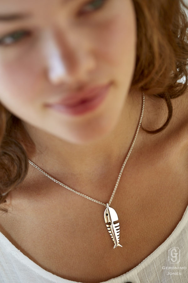 Sterling 'Silver Fish' Pendant on sterling chain