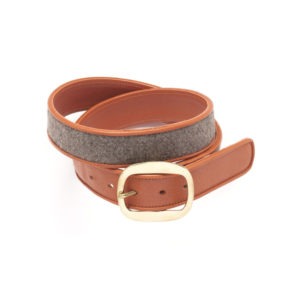 Montagu Matysik Ionides Belt made with vintage 1950s Poodle Felt